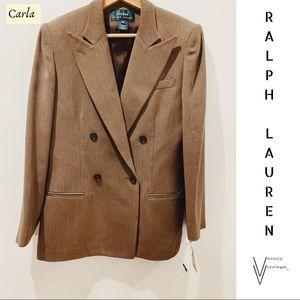 NWT Vintage Ralph Lauren Wool Blazer